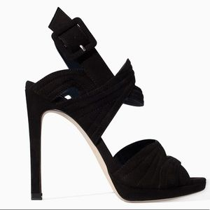 Zara Black High Heel Platform Sandals - US 9
